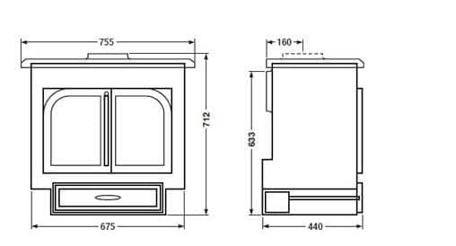 Clearview 750 Dimensions