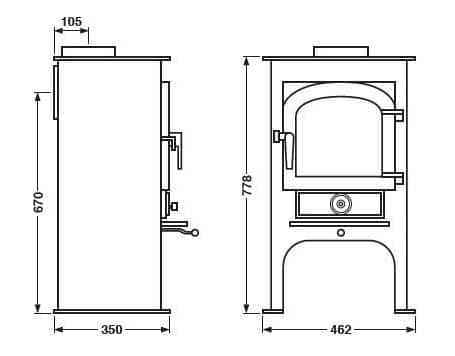 Clearview Pioneer 400P Dimensions