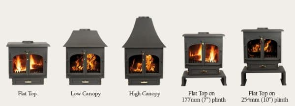 clearview 650 wood burning stove style options